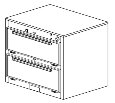 Duke 1352P 2401 Pass Thru Heated Holding Cabinet, 1-Thermostat Per 2-Compartments, 240/1 V