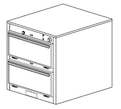 Duke 1452 120 Reach In Heated Cabinet, 1-Thermostat Per 2-Compartments, 120 V