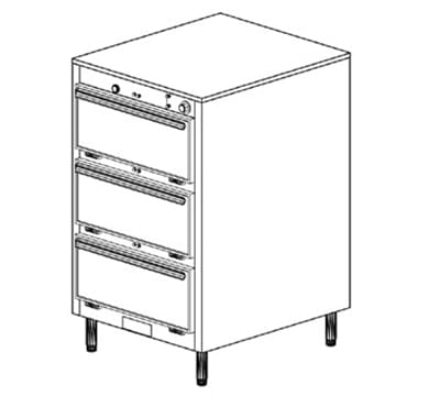 Duke 1453P 120 Pass Thru Heated Cabinet, 1-Thermostat Per 3-Compartments, Legs, 120 V