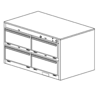 Duke 1454 2403 Reach In Heated Holding Cabinet, 1-Thermostat Per 4-Compartments, 240/3 V