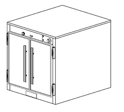 Duke 1551P 2403 Pass Thru Heating Holding Cabinet, 1-Thermostat Per Compartment, 240/3 V