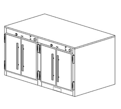 Duke 1552P Freestanding Insulated Heated Cabinet w/ (28) Pan Capacity, 208v/1ph
