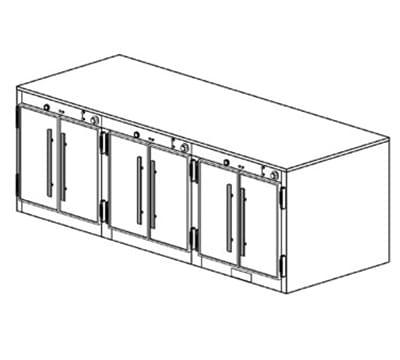 Duke 1553P Freestanding Insulated Heated Cabinet w/ (42) Pan Capacity, 240v/1ph