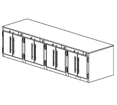 Duke 1554 2083 Reach In Heating Cabinet, 1-Thermostat Per 4-Compartment, 208/3 V