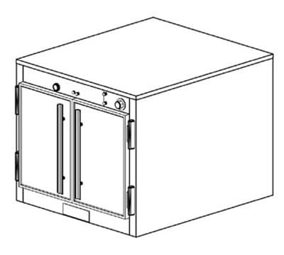 Duke 1571P 120 Pass Thru Heating Cabinet, 1-Thermostat Per 1-Compartment, 120 V