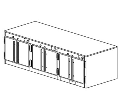 Duke 1573P 2401 Pass Thru Heating Cabinet, 1-Thermostat Per 3-Compartment, 240/1 V