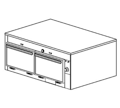 Duke 1602 2403 Reach In Heating Holding Cabinet, 1-Thermostat Per 2-Compartment, 240/3 V