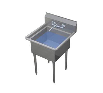 """Duke 161-NDB 21.75"""" 1-Compartment Sink w/ 16""""L x 21""""W Bowl, 11.5"""" Deep"""