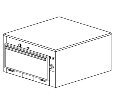"Duke 1651P 2083 Pass Thru Heated Cabinet, 1-Thermostat Per 1-Compartment, 9x22x28.5"", 208/3 V"