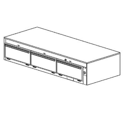 "Duke 1653 120 Reach In Heated Cabinet, 1-Thermostat Per 3-Compartment, 9x22x28.5"", 120 V"