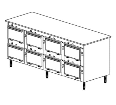 Duke 2204P 120 Pass Thru Heated Holding Cabinet, 1-Thermostat Per 8-Compartment, 120 V