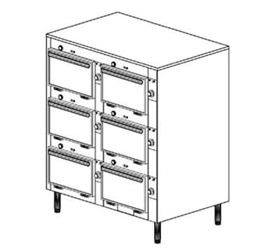 """Duke 2306 120 Reach In Cabinet, 1-Thermostat Per 6-Compartment, Legs, 9X14X23.5"""", 120 V"""