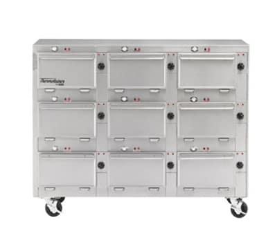 "Duke 2309P 120 Pass Thru Heated Cabinet, 1-Thermostat Per 9-Compartment, 9X14X23.5"", 120 V"