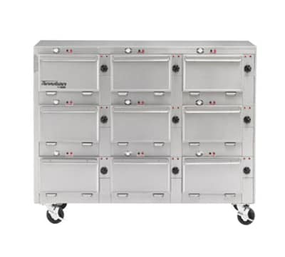 "Duke 2309P 2083 Pass Thru Heated Cabinet, 1-Thermostat Per 9-Compartment, 9X14X23.5"", 208/3 V"