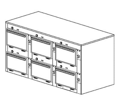 "Duke 2316P 120 Pass Thru Heated Cabinet, 1-Thermostat Per 6-Compartment, 9X14X23.5"", 120 V"