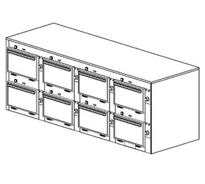 "Duke 2318P 2081 Pass Thru Heated Cabinet, 1-Thermostat Per 8-Compartment, 9X14X23.5"", 208/1 V"