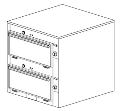 """Duke 2452 2083 Reach In Heated Cabinet, Individual Thermostat Controls, 9x22x28.5"""", 208/3 V"""