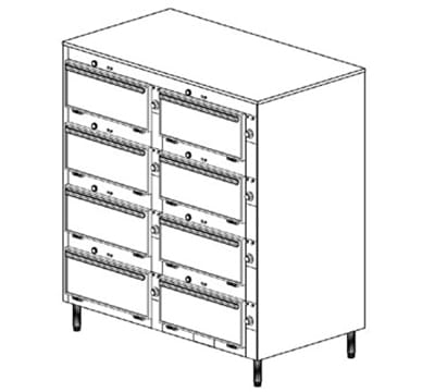 "Duke 2458P 2081 Pass Thru Heated Cabinet, (6) 12 x 20 x 2"" Pans Per Compartment, Leg, 208/1 V"