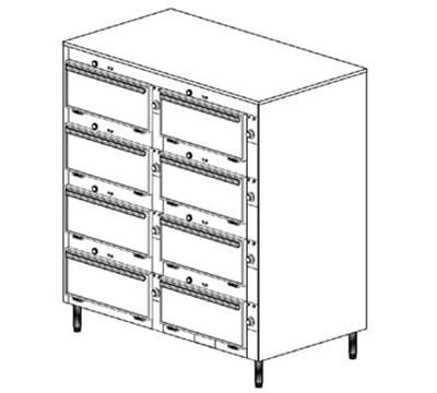"Duke 2458P 2403 Pass Thru Heated Cabinet, (6) 12 x 20 x 2"" Pans Per Compartment, Leg, 240/3 V"