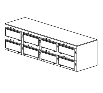 "Duke 2468P 2083 Pass Thru Heated Cabinet, (6) 12x20x2"" Pans Per Compartment, 208/3 V"