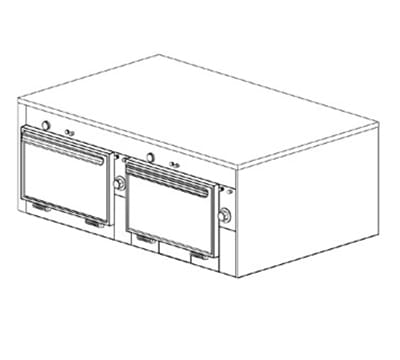 Duke 2602P Freestanding Insulated Heated Cabinet w/ (6) Pan Capacity, 240v/1ph