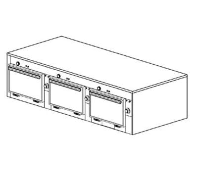 "Duke 2603P 2083 Pass Thru Heated Cabinet, 1-Thermostat Per 3-Compartments, 9x14x23.5"", 208/3 V"