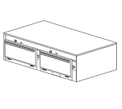 "Duke 2652P 2401 Pass Thru Cabinet, 1-Thermostat Per 2-Compartments, 9x22x28.5"", 240/1 V"