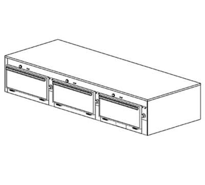 "Duke 2653P 2083 Pass Thru Heated Cabinet, 1-Thermostat Per 3-Compartments, 9x22x28.5"", 208/3 V"