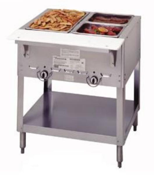 Duke Aerohot Steamtable Hot Food Unit W Wells Carving Board LP - 2 well steam table