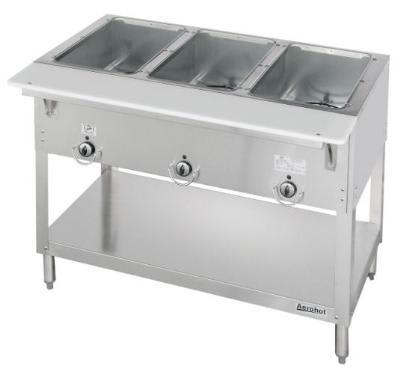 Duke 303 NG Aerohot Steamtable Hot Food Unit, 3 Wells & Carving Board, NG