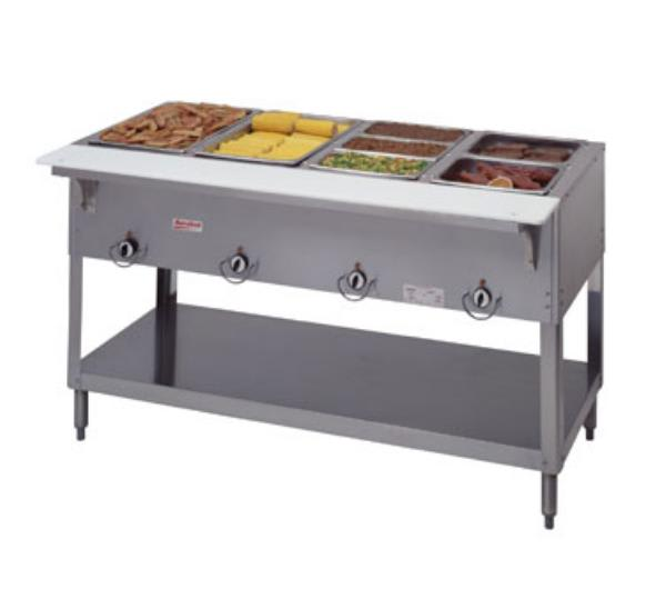 Duke 304 Aerohot Steam Table Hot Food Unit, 4 Wells & Carving Board, LP