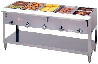 Duke 305 Aerohot Steamtable Hot Food Unit, 5 Wells & Carving Board, LP