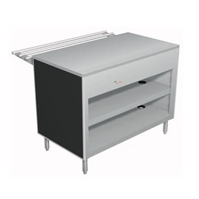 "Duke 309-25SS 46"" Solid Top Utility Counter w/ 2 Shelves All Stainless"