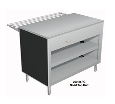 "Duke 310-25PG 60"" Solid Top Unit w/ Utility Counter, Paint Grip Body, Semi-Gloss Black"