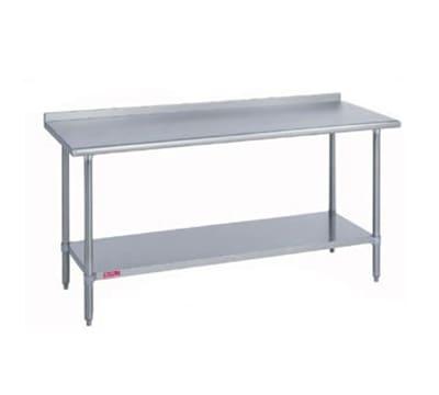 "Duke 314S-3048-2R 48"" 14-ga Work Table w/ Undershelf & 300-Series Stainless Top, 1.125"" Backsplash"
