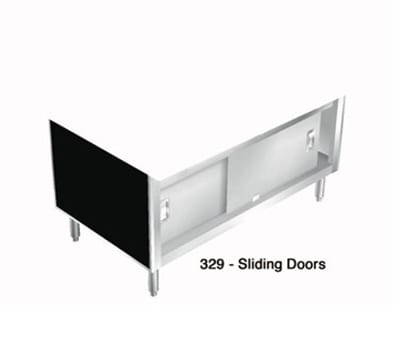 "Duke 329-5PG 74"" Sliding Doors w/ Ball-Bearing Wheels on Overhead Tracks for 4-Well Units"