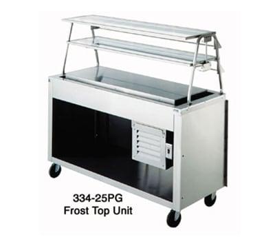 "Duke 334-25PG 24.5x60"" Frost Top Unit, Paint Grip Body, Undershelf, Semi-Gloss Black, 120V"