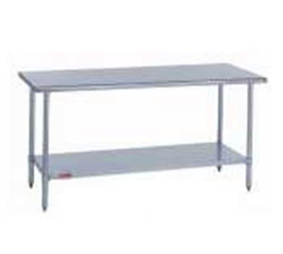 "Duke 418-2430 30"" 18 ga Work Table w/ Undershelf & 400 Series Stainless Flat Top"