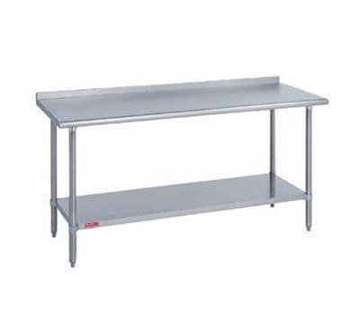 "Duke 418-3072-2R 72"" 18 ga Work Table w/ Undershelf & 400 Series Stainless Top, 1.125"" Backsplash"