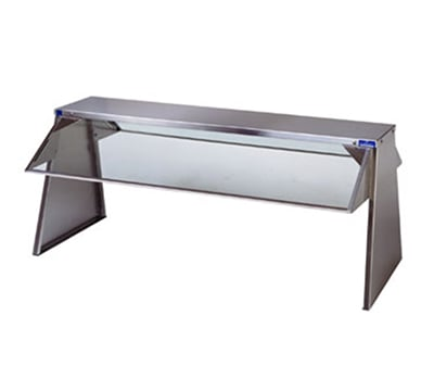 Duke 656-3S Buffet Shelf w/ 1-Tempered Glass Guard, 2-Section, 10 x 18 x 72.37""