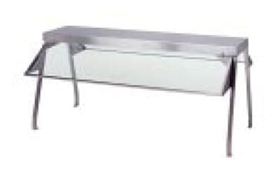 "Duke 838-1SN Buffet Shelf w/ 1 Glass Sneeze Guard, 55.37 x 10.5 x 20"", Stainless"