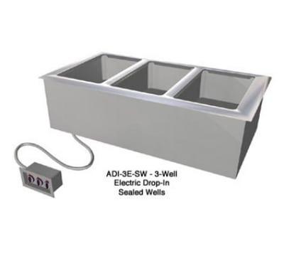 Duke ADI-3E-SW Drop-In Hot Food Well w/ (3) Full Size Pan Capacity, 120v