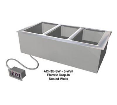 Duke ADI-4E-SW Drop-In Hot Food Well w/ (4) Full Size Pan Capacity, 120v
