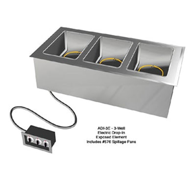 Duke ADI-5E Drop-In Hot Food Well w/ (5) Full Size Pan Capacity, 120v