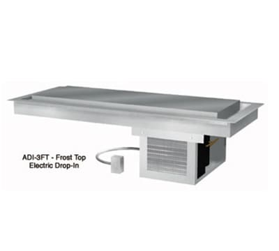 "Duke ADI-5FT 74"" Drop In Frost Top Unit w/ Drain, Stainless Top, Steel Exterior, 120v"