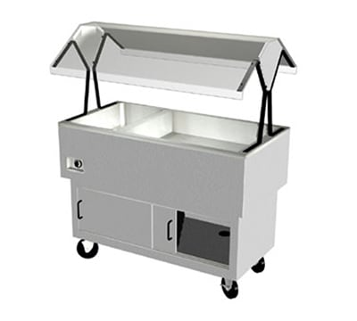 "Duke DPAH-1H2C 44.37"" Hot Cold Portable Buffet w/ 2 Cool Sections & 1 Hot Well, Enclosed Base"
