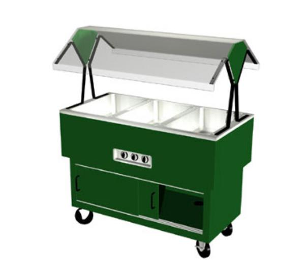 Duke DPAH-3-HF 217127120 Hot Food Portable Buffet, 3 Hot Wells, Clear Canopy, Fence Green, 120V