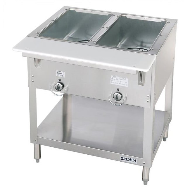 Duke E302 Aerohot Steamtable Hot Food Unit, 2 Wells & Carving Board, 208v/1ph