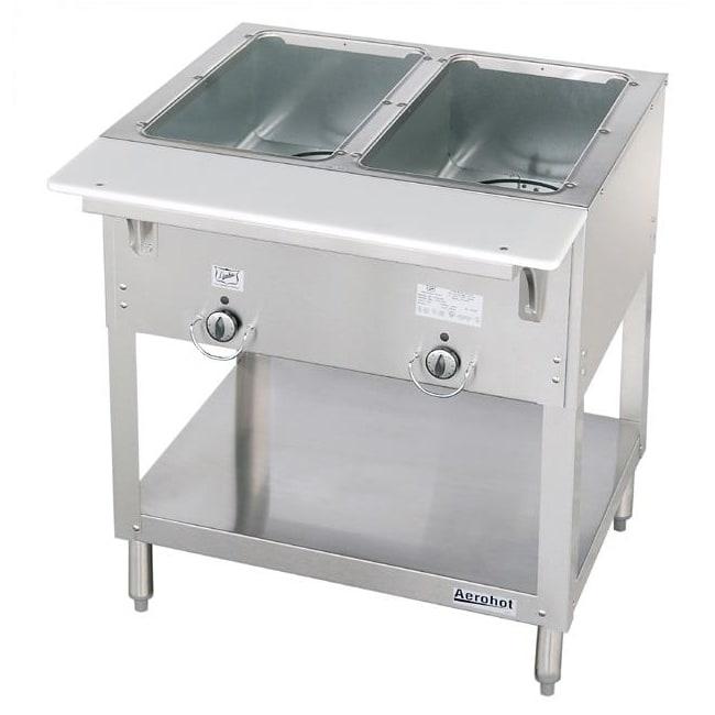 "Duke E302SW 30.37"" Steamtable Hot Food Unit w/ 2 Wells, Infinite Control, 208/1 V"