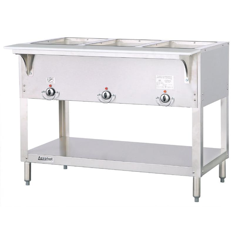 Duke E303SW Aerohot Steam Table w/ 3 Sealed Wells & Carving Board, 120v